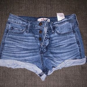 Hollister denim shorts size 1 w25